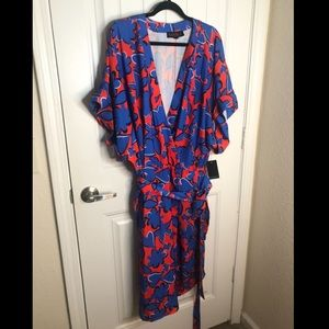 Eloquii faux wrap dress, size 26.